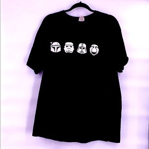 Vintage Star Wars black and white t shirt size xl